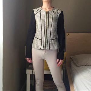 Calvin Klein Tweed Combo Two Tone Jacket.